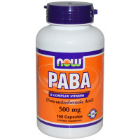 Витамины Now PABA 500 mg 100 капс.